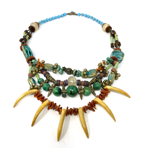 Carapace and Tusk Layered Necklace- Thumbnail