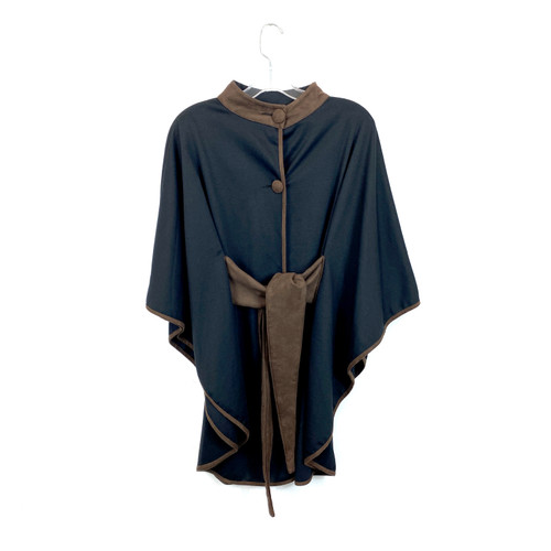 Vintage All Day Tie Waist Poncho- Front