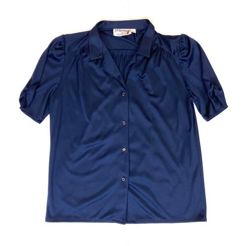 Vintage Segments Short Sleeve Pajama Set- Top Front