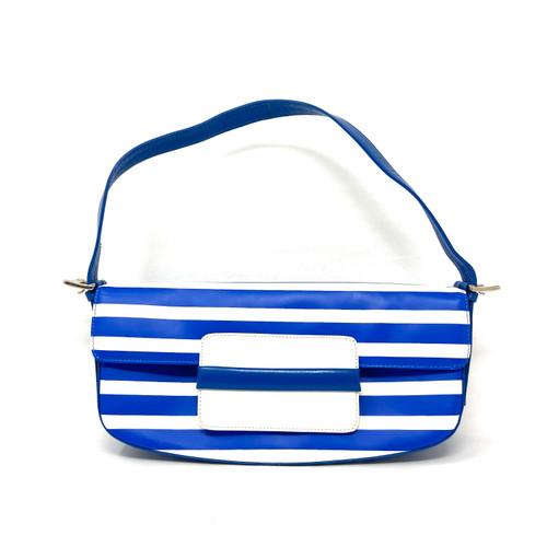 Vintage Le Silla Striped Baguette Bag- Thumbnail