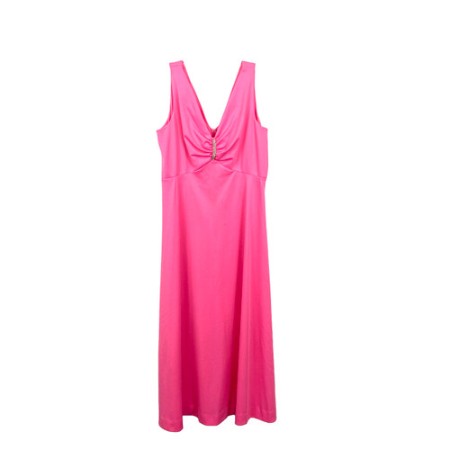 Vintage Hot Pink Empire Waist Gown- Front