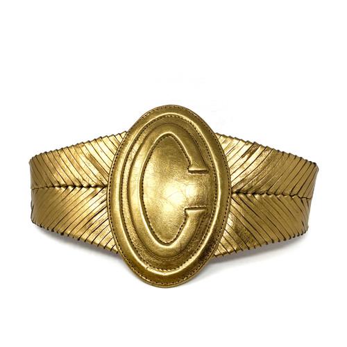 Vintage Wide Metallic C Belt- Thumbnail