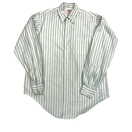 Vintage Brooks Brothers Ticking Stripe Button Down- Front