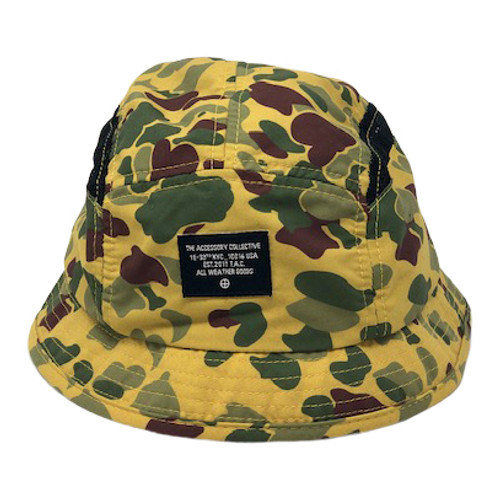 The Accessory Collective Camo Bucket Hat-Front