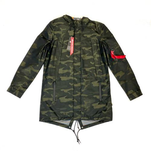 Alpha Industries Camo Deluge Fishtail Jacket- Front
