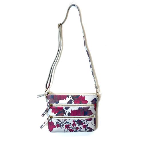 Coldwater Creek Floral Shoulder Bag- Front