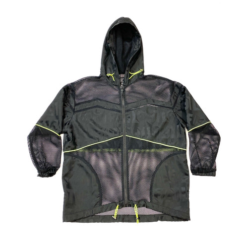 LF The Brand Mesh Windbreaker Jacket- With Hood