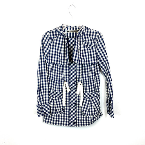Daughters of the Liberation Gingham Anorak Coat- Front
