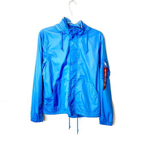 Alpha Industries Light Navy Nylon G.I. Utility Jacket- Front