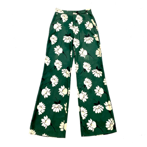 Pearl by Lela Rose Floral Crepe Pants- Front