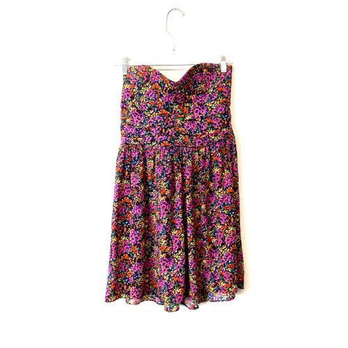 Parker Floral Strapless Mini Dress- Front