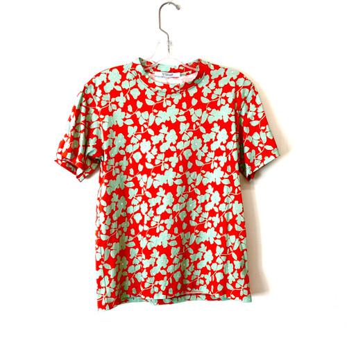 Derek Lam 10 Crosby Floral Print Crew Neck T-Shirt- Front
