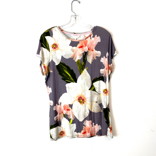 Ted Baker Floral Graphic Tee Top- Front