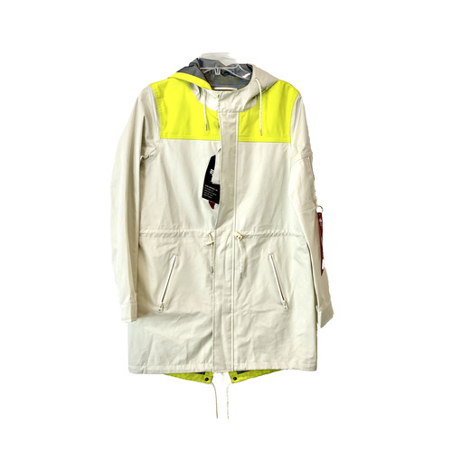 Alpha Industries Vintage White Deluge Fishtail Jacket- Front