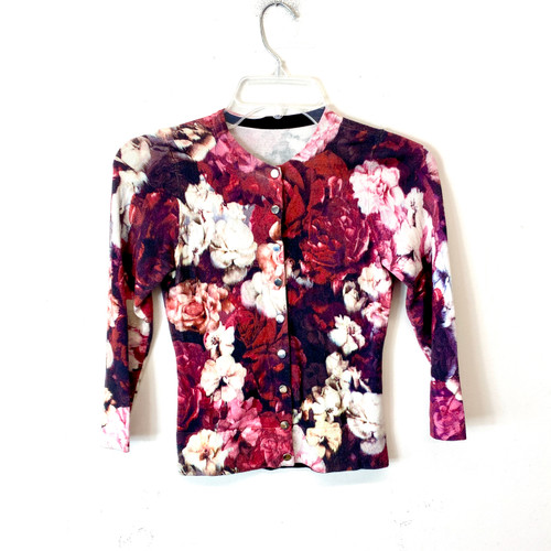Floral Snap Button Sweater- Front