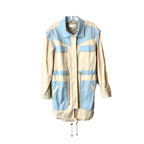 hropologie Color Blocked Utility Anorak Jacket- Front