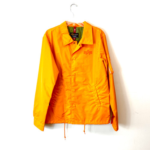 Alpha Industries Emergency Orange Lightweight Coaches Jacket- Front