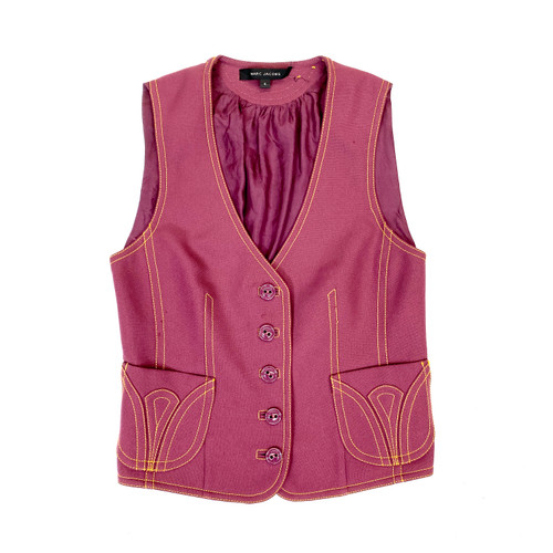 Marc Jacobs Darted Collarless Vest - Thumbnail