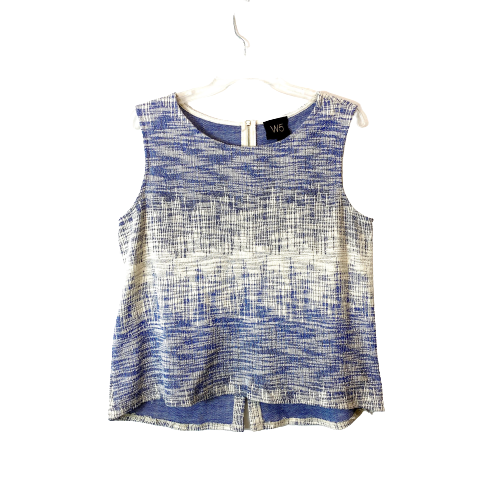 W5 Tweed Sleeveless Blouse - Thumbnail