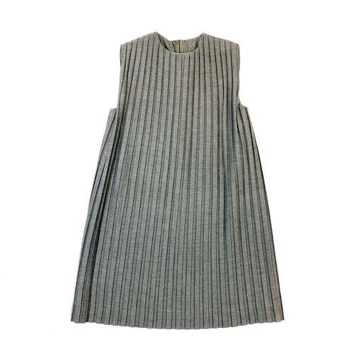 It Must Be Love Pleated Sleeveless Dress - Thumbnail