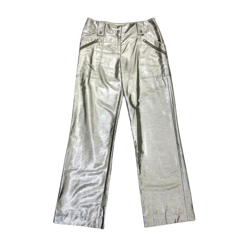 Diane von Furstenburg Silver Cargo Pants - Thumbnail