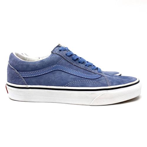 Vans Blue Suede Old Skool Low Tops - Thumbnail