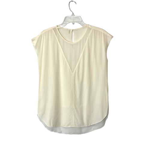 Sleeveless Sheer V Panel Shell - Thumbnail