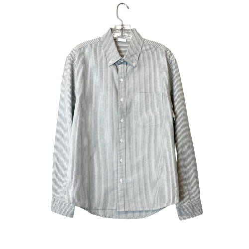 Pale Striped Oxford Button Down Shirt - Thumbnail