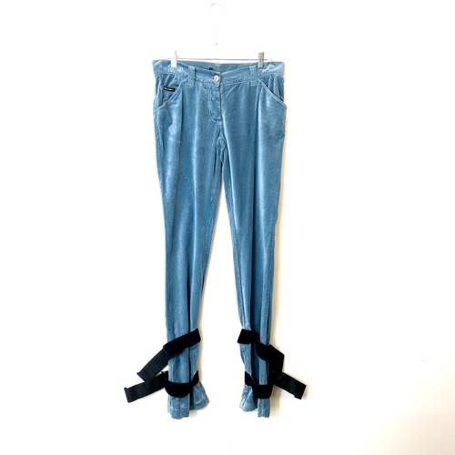 Dolce & Gabbana Velvet Bondage Pants - Thumbnail
