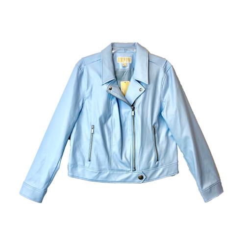 Michael by Michael Kors Poly Leather Moto Jacket - Thumbnail