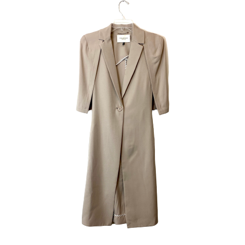 Halston Heritage Cape Sleeve Trench Coat - Thumbnail