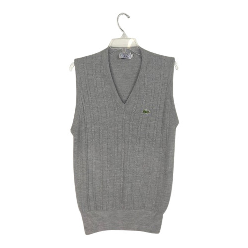 Vintage Lacoste Cable Knit Sweater Vest-Thumbnail
