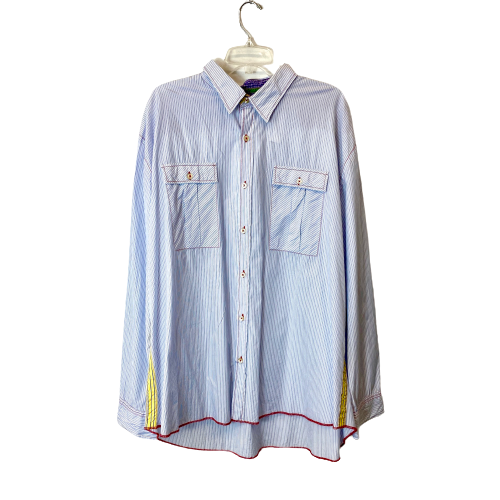 Arnold Zimberg Long Sleeve Button Down Shirt - Thumbnail