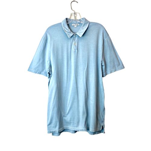 James Perse Supima Cotton Jersey Polo Shirt - Thumbnail