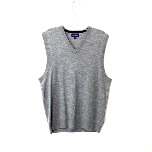 Brooks Brothers Merino Wool V-Neck Vest - Thumbnail