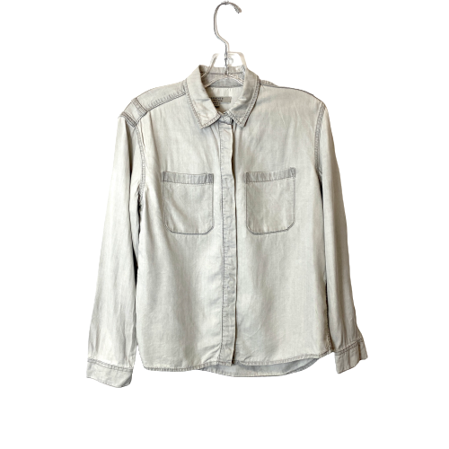 All Saints Patch Pocket Button Down Shirt - Thumbnail