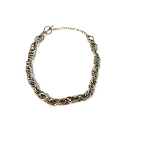 Silver Chain Link Necklace - Thumbnail