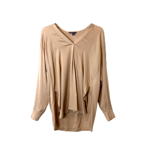 Vince V-Neck Silk Blouse - Thumbnail