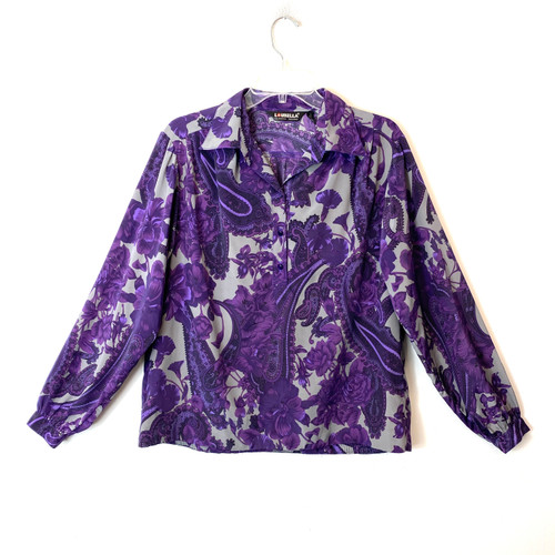 Vintage Loubella Fashions Puff Sleeve Blouse- Front