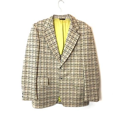 Vintage 1970's Knit Herringbone Blazer- Front