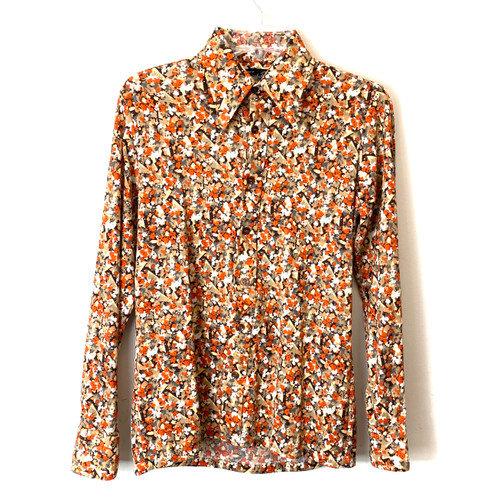 Vintage Christopher Rand Floral Button Down- Front
