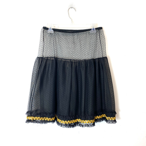 Vintage Embellished Tulle Sheer Skirt- Front