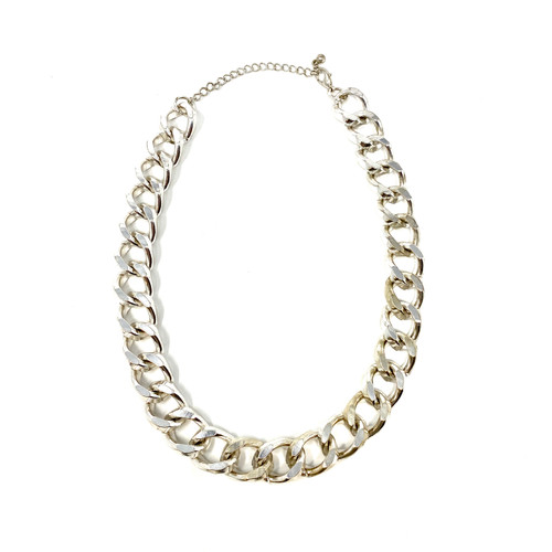 Heavy Textured Chain Necklace- Front