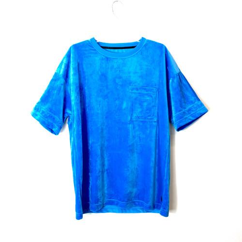 Madison Supply Blue Velvet Pocket T-Shirt- Front