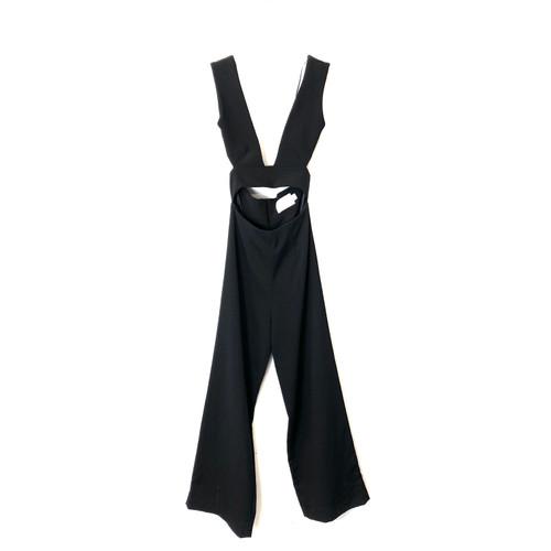 Solace London Crepe Cut Out Jumpsuit- Front