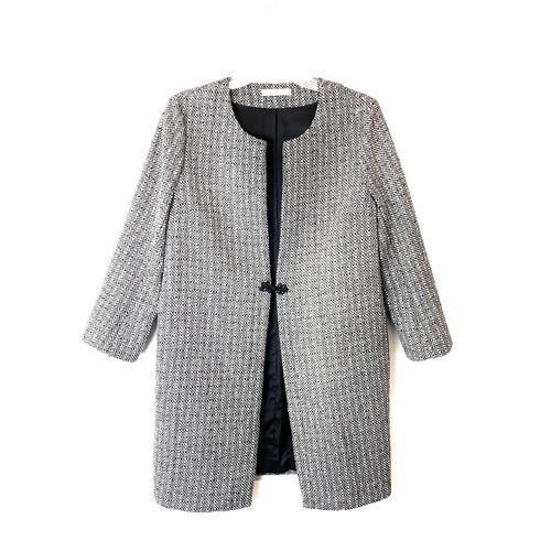 Lark & Ro Tweed Topper Coat- Front