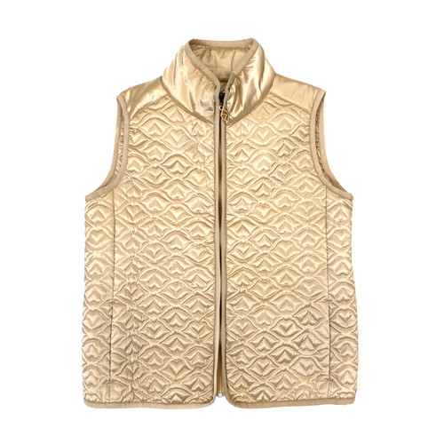 See by Chloe Lip Heart Puffer Vest- Front