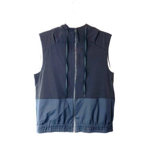 Theory Nylon Blend Hooded Vest- Front