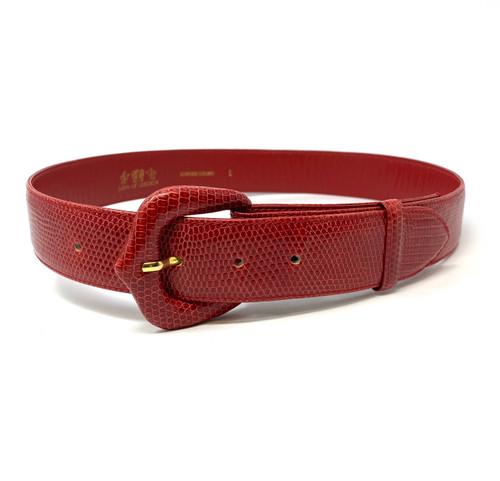 Lana of London Genuine Lizard Belt- Front
