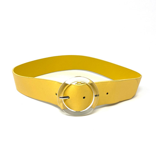 Vince Camuto Sunshine Acrylic Buckle Belt- Front